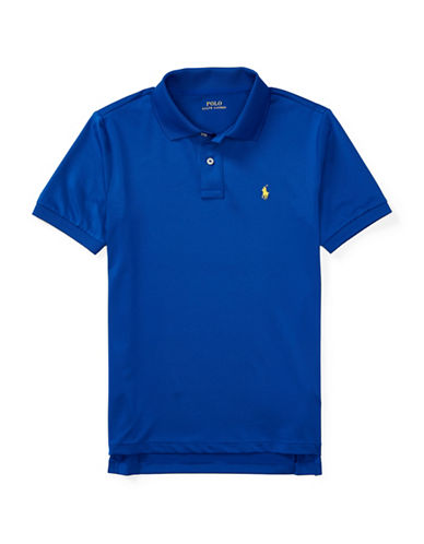 Ralph Lauren Childrenswear Stretch Jersey Polo-BLUE-Large