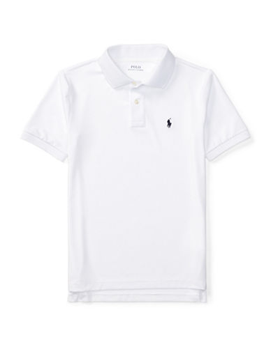 Ralph Lauren Childrenswear Stretch Jersey Polo-WHITE-Large
