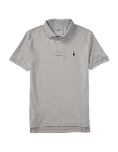 Ralph Lauren Childrenswear Stretch Jersey Polo-GREY-Small