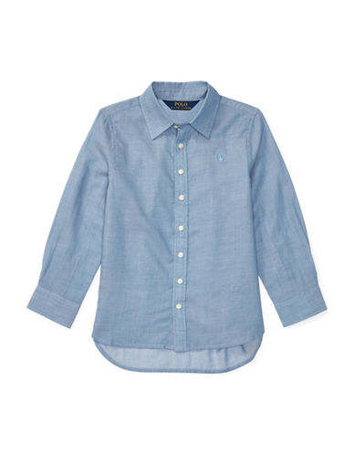 Ralph Lauren Childrenswear Cotton Oxford Shirt-BLUE-2