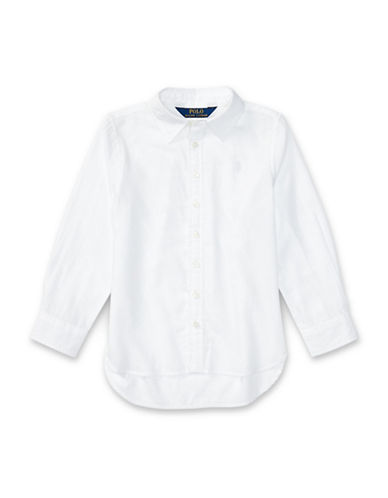 Ralph Lauren Childrenswear Twill Button-Down Shirt-WHITE-4