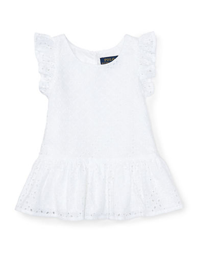 Ralph Lauren Childrenswear Eyelet Cotton Top-WHITE-2