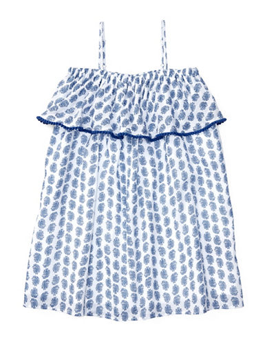 Ralph Lauren Childrenswear Printed Gauze Dress-BLUE-3