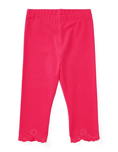 Ralph Lauren Childrenswear Eyelet Jersey Leggings-RED-2 89023458_RED_2