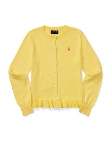 Ralph Lauren Childrenswear Ruffle-Hem Cardigan-YELLOW-Small
