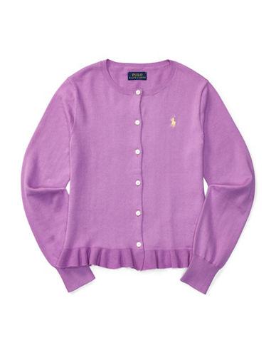 Ralph Lauren Childrenswear Ruffle-Hem Cardigan-PINK-Medium