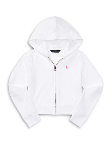 Ralph Lauren Childrenswear Terry Zip-Up Hoodie-WHITE-Large 89002043_WHITE_Large