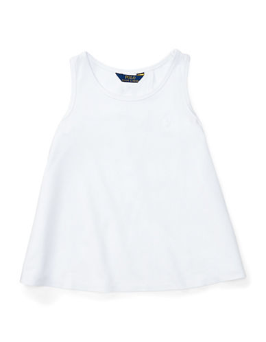 Ralph Lauren Childrenswear Solid Cotton Jersey Tank Top-WHITE-X-Large 89133567_WHITE_X-Large