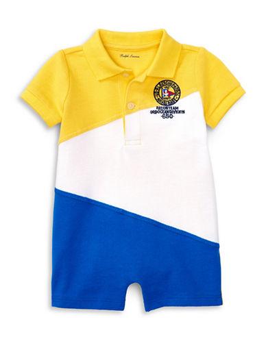 Ralph Lauren Childrenswear Colourblock Cotton Mesh Shortall-YELLOW-24 Months 88985515_YELLOW_24 Months