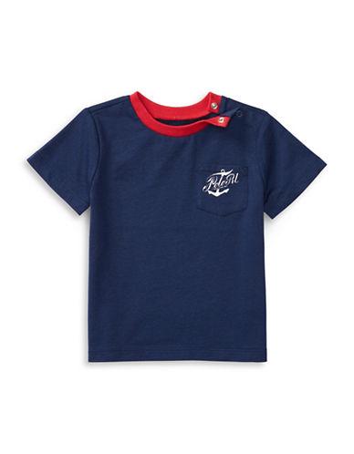 Ralph Lauren Childrenswear Graphic Printed Cotton Tee-BLUE-24 Months