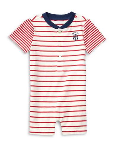 Ralph Lauren Childrenswear Striped Jersey Shortall-RED-6 Months