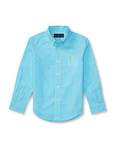 Ralph Lauren Childrenswear Poplin Shirt-BLUE-2