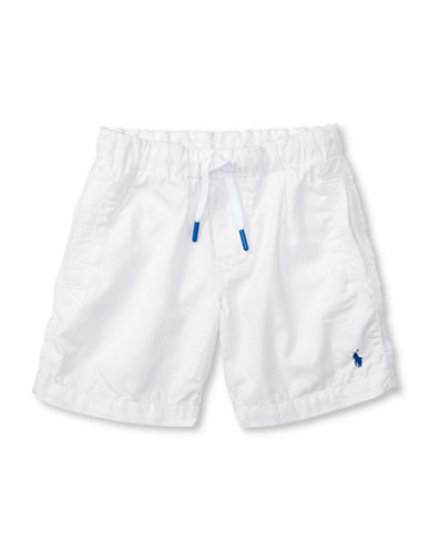 Ralph Lauren Childrenswear Parachute Poplin Shorts-WHITE-4
