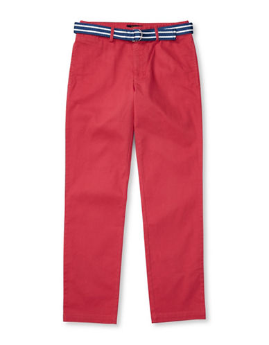 Ralph Lauren Childrenswear Suffield Belted Stretch Chino Pants-RED-18