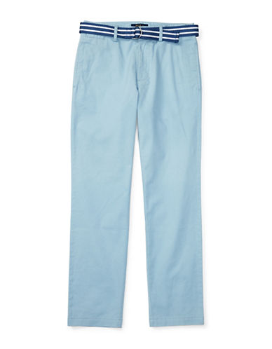 Ralph Lauren Childrenswear Suffield Belted Stretch Chino Pants-BLUE-16