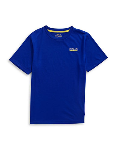 Ralph Lauren Childrenswear Left Chest Logo T-Shirt-BLUE-X-Large 88933842_BLUE_X-Large