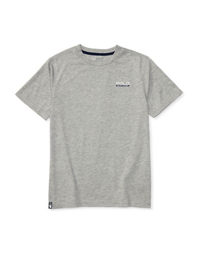 Ralph Lauren Childrenswear Heathered Performance Jersey Tee-GREY-X-Large 88933838_GREY_X-Large
