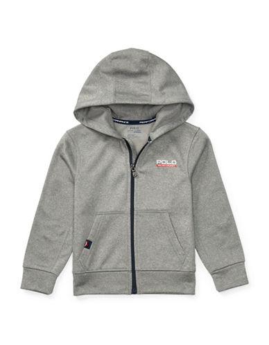 Ralph Lauren Childrenswear Tech Fleece Full Zip Hoodie-GREY-Medium 88933940_GREY_Medium