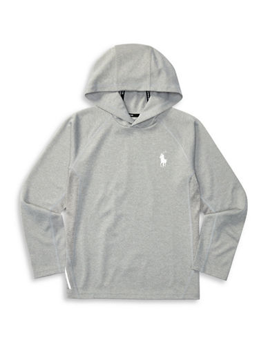 Ralph Lauren Childrenswear ThermoVent Reflective Pony Hoodie-GREY-X-Large 88933950_GREY_X-Large