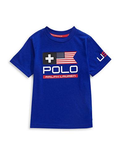 Ralph Lauren Childrenswear Chest Logo T-Shirt-BLUE-Large 88934015_BLUE_Large