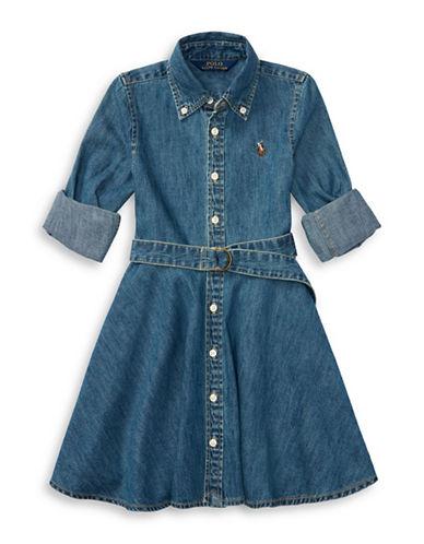 Ralph Lauren Childrenswear Cotton Denim Shirtdress-NAVY-6