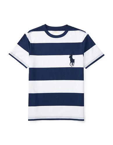 Ralph Lauren Childrenswear Striped Cotton Jersey T-Shirt-WHITE-Large 89107625_WHITE_Large