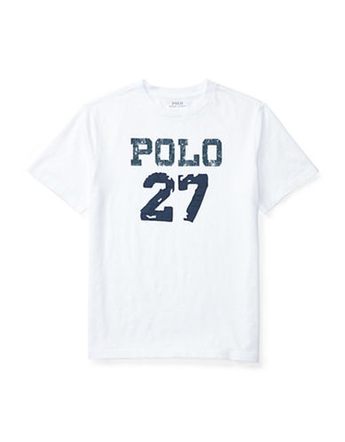 Ralph Lauren Childrenswear Slub Jersey  T-Shirt-WHITE-X-Large 89107640_WHITE_X-Large