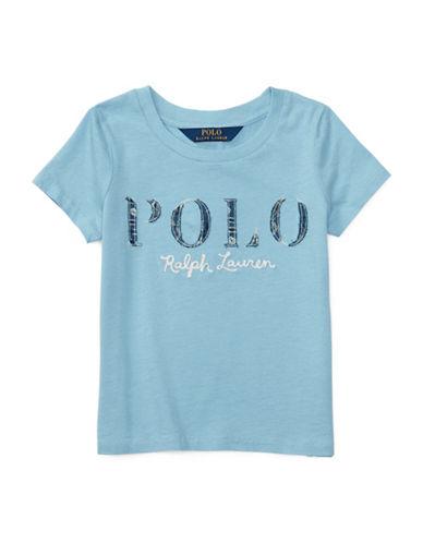 Ralph Lauren Childrenswear Polo Cotton Jersey Graphic Tee-BLUE-3T