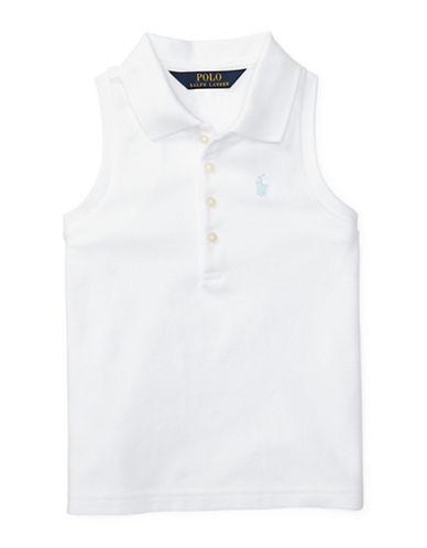 Ralph Lauren Childrenswear Stretch Sleeveless Polo-WHITE-6X
