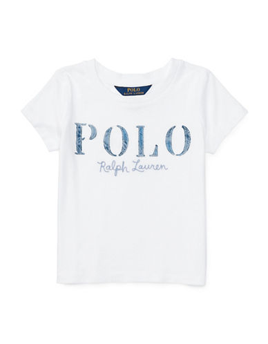 Ralph Lauren Childrenswear Polo Cotton Jersey Graphic Tee-WHITE-Large 89206523_WHITE_Large