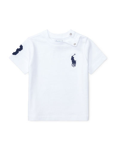 Ralph Lauren Childrenswear Big Pony Cotton Jersey Tee-WHITE-12 Months