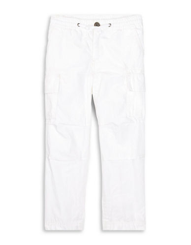Ralph Lauren Childrenswear Cotton Ripstop Cargo Pants-WHITE-4