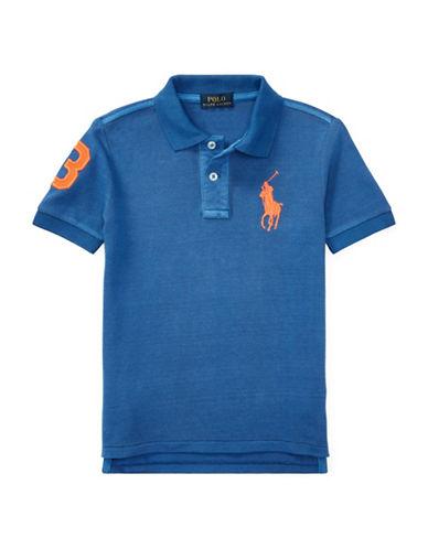 Ralph Lauren Childrenswear Three Patch Cotton Polo-BLUE-2