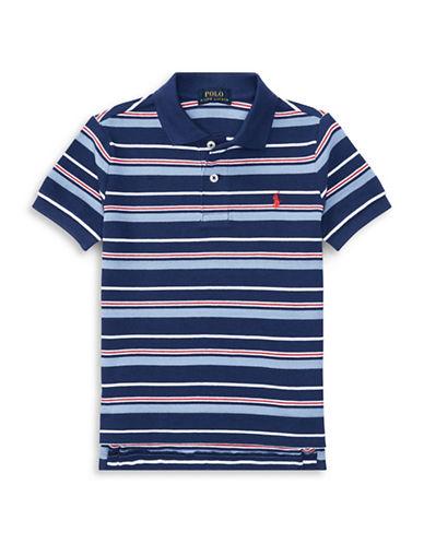 Ralph Lauren Childrenswear Striped Cotton Mesh Polo-BLUE-5
