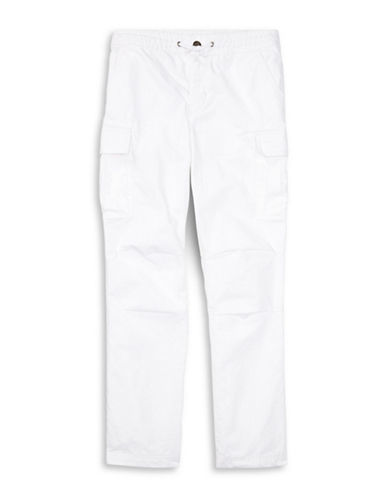 Ralph Lauren Childrenswear Cotton Ripstop Cargo Pants-WHITE-Small