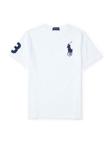 Ralph Lauren Childrenswear Cotton Jersey Crew Neck  T-Shirt-WHITE-Small 89107579_WHITE_Small