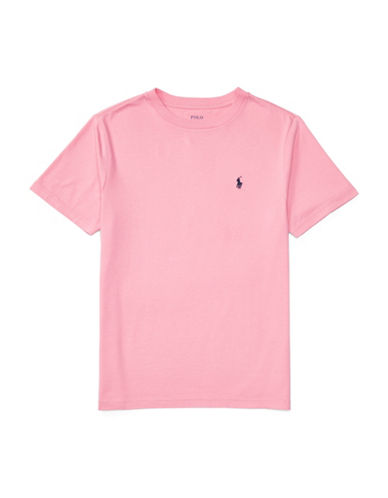 Ralph Lauren Childrenswear Cotton Jersey  T-Shirt-PINK-Medium 89107606_PINK_Medium