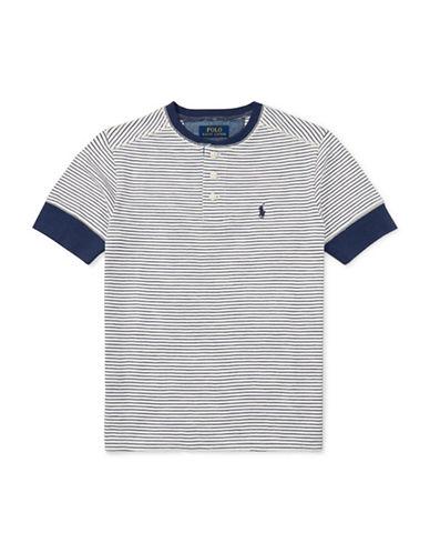 Ralph Lauren Childrenswear Multi-Striped Cotton Henley T-Shirt-WHITE-Large 89107649_WHITE_Large