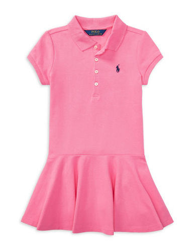 Ralph Lauren Childrenswear Short-Sleeve Polo Dress-BAJA PINK-4T