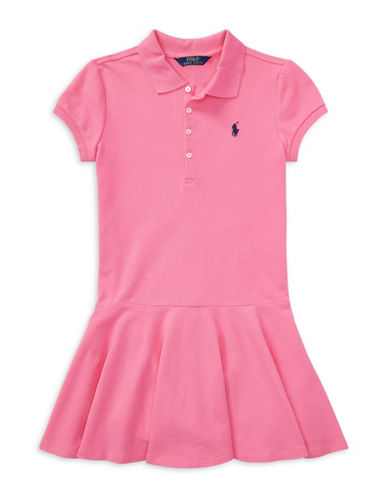 Ralph Lauren Childrenswear Easy-Fit Polo Dress-BAJA PINK-Large