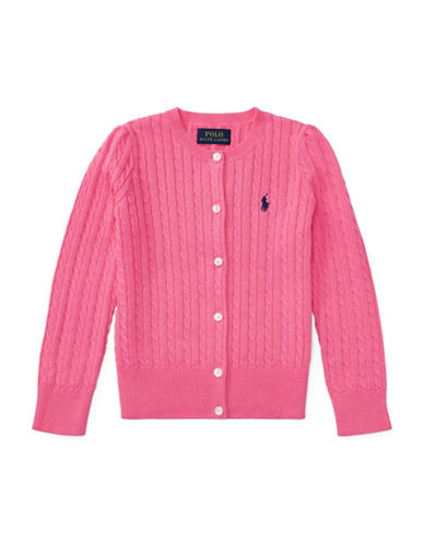 Ralph Lauren Childrenswear Mini-Cable Cotton Cardigan-PINK-3