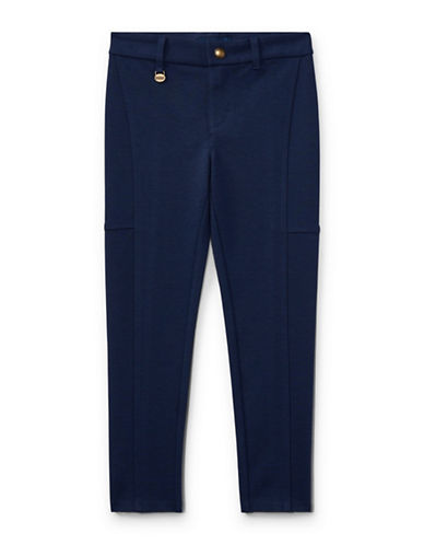 Ralph Lauren Childrenswear Ponte Slim-Fit Leggings-NAVY-3