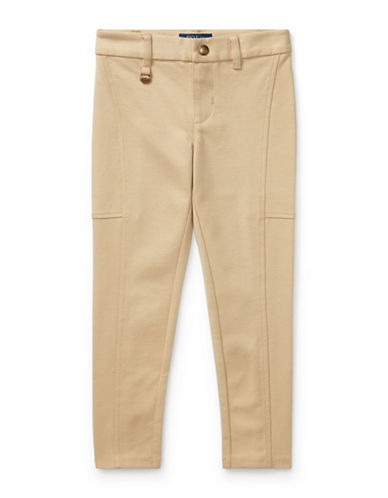Ralph Lauren Childrenswear Ponte Slim-Fit Leggings-BEIGE-2