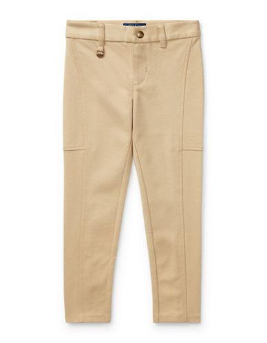 Ralph Lauren Childrenswear Ponte Slim-Fit Leggings-BEIGE-4