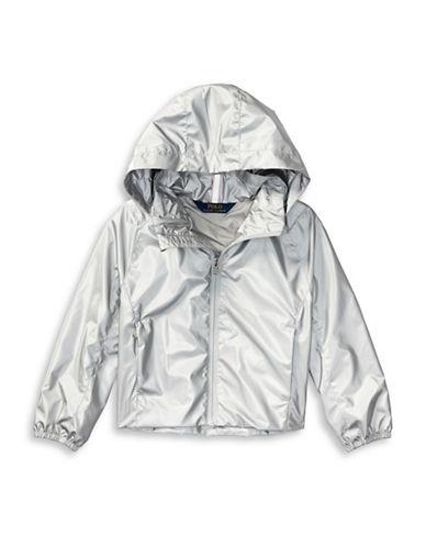 Ralph Lauren Childrenswear Mockneck Hooded Windbreaker-GREY-3
