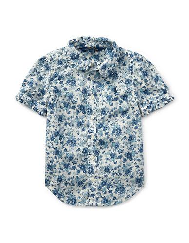 Ralph Lauren Childrenswear Floral Cotton Shirt-BLUE-2
