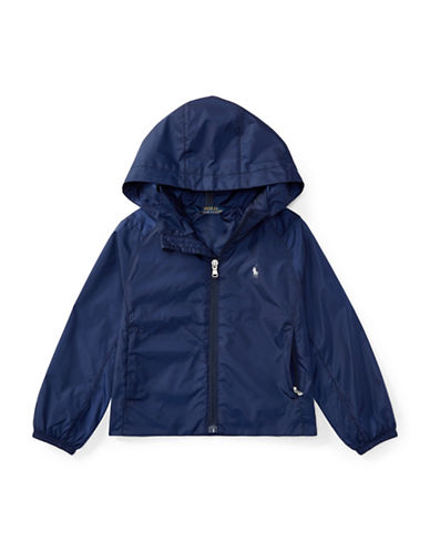 Ralph Lauren Childrenswear Hooded Windbreaker-NAVY-6X