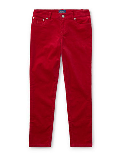 Ralph Lauren Childrenswear Corduroy Skinny Pants-RED-2