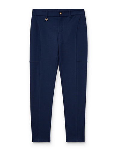 Ralph Lauren Childrenswear Sleek Stretchable Leggings-BLUE-Large