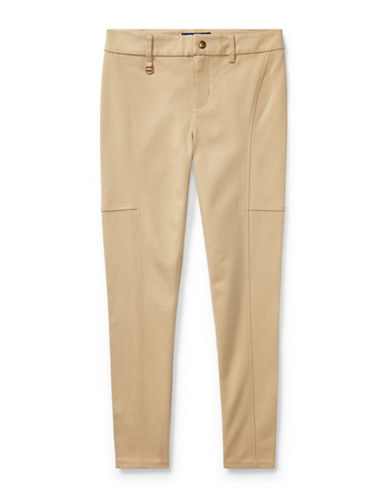 Ralph Lauren Childrenswear Sleek Stretchable Leggings-BEIGE-Small